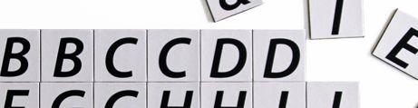 Letras y números magnéticas